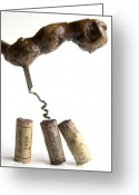 Stopper Greeting Cards - Corks of French wine. Greeting Card by Bernard Jaubert