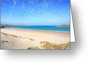 Beaches Greeting Cards - Crantock Bay Greeting Card by Carl Whitfield