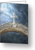 Faith Greeting Cards - Cross Greeting Card by Joana Kruse