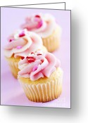 Decorated Greeting Cards - Cupcakes Greeting Card by Elena Elisseeva