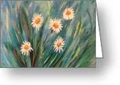  Originals Greeting Cards - Daisies Greeting Card by Gina De Gorna