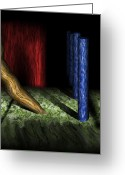Dreams Greeting Cards - Dalis Columns Greeting Card by Christopher Gaston