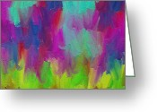 Abstract Expressionism Greeting Cards - Dance  Greeting Card by Ely Arsha