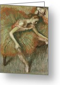 Edgar Greeting Cards - Dancers Greeting Card by Edgar Degas