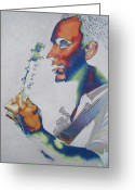 Musician Drawings Greeting Cards - Dave Matthews Greeting Card by Joshua Morton
