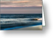 Atlantic Ocean Greeting Cards - Days End Greeting Card by Bill  Wakeley