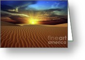 Barren Land Greeting Cards - Desert Greeting Card by MotHaiBaPhoto Prints