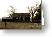 Old Farms Greeting Cards - Dilapidated Old Farm House . 7D10341 Greeting Card by Wingsdomain Art and Photography