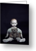 Black Fur Greeting Cards - Doll And Bear Greeting Card by Joana Kruse