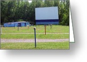 Speakers Greeting Cards - Drive-In Theater Greeting Card by Frank Romeo
