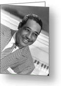 Checkered Greeting Cards - Duke Ellington (1899-1974) Greeting Card by Granger