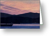 Pink And Purple Greeting Cards - Early Morning on the West Coast Greeting Card by Neil Woodward