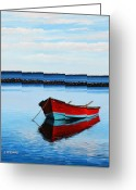Rick Mckinney Greeting Cards - Eastpoint Red Greeting Card by Rick McKinney