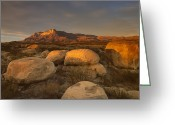 "\""guadalupe National Park\\\"" Greeting Cards - El Capitan Guadalupe Mountains National Greeting Card by Tim Fitzharris"