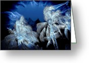 Landscape Posters Digital Art Greeting Cards - Electric Greeting Card by Athala Carole Bruckner