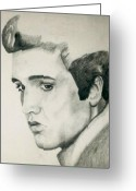 Elvis Presley Art Greeting Cards - Elvis Greeting Card by Mikayla Henderson