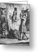 Stake Greeting Cards - England: Burning At Stake Greeting Card by Granger