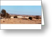 Panoramique Greeting Cards - Entering Tunisia Greeting Card by Bry Bastien