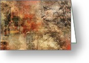 Polyptych Greeting Cards - Entropy Greeting Card by Christopher Gaston
