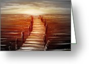 Sunset Posters Photo Greeting Cards - Escape Greeting Card by Gina De Gorna