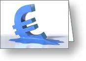 International Crisis Greeting Cards - Euro Crisis, Conceptual Artwork Greeting Card by David Mack