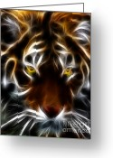Fractal Art Greeting Cards - Eye of The Tiger Greeting Card by Wingsdomain Art and Photography