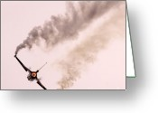 Jet Greeting Cards - F16 Greeting Card by Angel  Tarantella