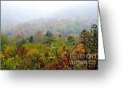 Winding Road Greeting Cards - Fall Color and Snow  Greeting Card by Thomas R Fletcher
