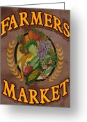 Meat Market Greeting Cards - Farmers Market Greeting Card by Robert Harmon