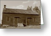 Storm Prints Greeting Cards - Farmhouse  Greeting Card by Frank Romeo