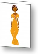 Beautiful Woman Greeting Cards - Fashion Drawing Greeting Card by Frank Tschakert