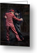 Digital-photography Photo Greeting Cards - For Men Only - Tango Series Greeting Card by Raul Villalba