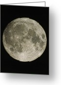 Lunar Mare Greeting Cards - Full Moon Greeting Card by Eckhard Slawik