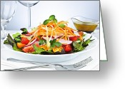 Nutritious Greeting Cards - Garden salad Greeting Card by Elena Elisseeva