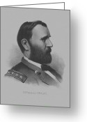 Civil Greeting Cards - General Grant Greeting Card by War Is Hell Store