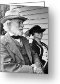 E Black Greeting Cards - General Lee and Mary Custis Lee Greeting Card by Thomas R Fletcher