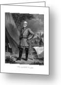 Military Hero Drawings Greeting Cards - General Robert E Lee Greeting Card by War Is Hell Store