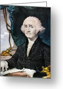 Federalist Greeting Cards - George Washington Greeting Card by Granger