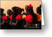 La Maison Des Esclave Greeting Cards - Goree Girls Greeting Card by Fania Simon
