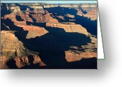 Road Trip Greeting Cards - Grand Canyon National Park at sunset Greeting Card by Pierre Leclerc
