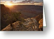 Arid Climate Greeting Cards - Grand Canyon, West Of Lipan Point Greeting Card by Terry Moore