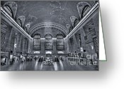 Public Transportation Greeting Cards - Grand Central Station Greeting Card by Susan Candelario