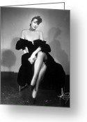 1950s Fashion Photo Greeting Cards - Gypsy Rose Lee (1913-1970) Greeting Card by Granger