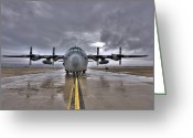 Plane Greeting Cards - High Dynamic Range Image Of A U.s. Air Greeting Card by Terry Moore
