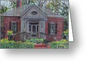 House Pastels Greeting Cards - Hiram Butler House Greeting Card by Donald Maier