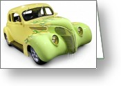 1930s Greeting Cards - Hot Rod Ford Coupe 1938 Greeting Card by Oleksiy Maksymenko