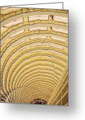 Overhead Greeting Cards - Hotel Atrium in the Jin Mao Tower Greeting Card by Jeremy Woodhouse