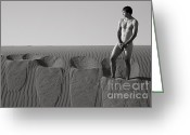 Nudes Photo Greeting Cards - Hunter Greeting Card by Carl Deal