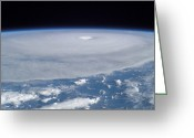 Isabel Greeting Cards - Hurricane Isabel Greeting Card by Stocktrek Images