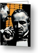 Marlon Brando Greeting Cards - I Want You To Kill him Greeting Card by Luis Ludzska